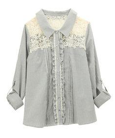 【ZOZOTOWN】axes femme(アクシーズファム)のシャツ/ブラウス「肩レース使いシャツ」(TY91X127)を購入できます。