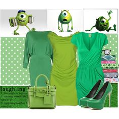 """Mike Wazowski"" by jess-d90 on Polyvore"