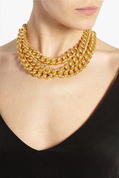 Ben-Amun Gold-plated chain-link necklace NET-A-PORTER.COM
