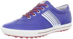 ECCO Women's Golf Street Sport Golf Shoe,Mazarine Blue/Brick,38 EU/7-7.5 M US