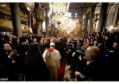 Pope Francis attends Divine Liturgy with Ecumenical Patriarch