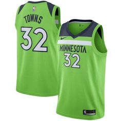 3d0e54c67 Men 32 Karl Anthony Towns Jersey Green Minnesota Timberwolves Fanatics