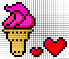 Wall | VK Pixel Art Templates, Perler Bead Templates, Diy Perler Beads, Pearler Bead Patterns, Perler Bead Art, Kawaii Cross Stitch, Small Cross Stitch, Cross Stitch Designs, Cross Stitch Patterns
