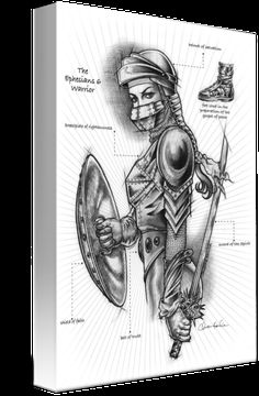 """Armor+of+God""+by+Christine+Kerrick,+Coconut+Creek+//+Ephesians+6:12+describes+the+armor+of+God:+the+helmet+of+salvation+to+protect+one's+mind;+the+breastplate+of+righteousness+to+protect+one's+heart;+the+belt+of+truth+to+protect+against+deception;+the+feet+shod+in+the+readiness+of+the+gospel+to+tell+the+good+news;+the+sword+of...+//+Imagekind.com+--+Buy+stunning+fine+art+prints,+framed+prints+and+canvas+prints+directly+from+independent+working+artists+and+photographers."