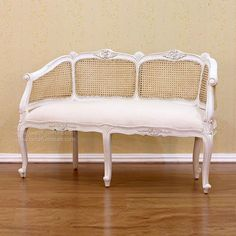 Louis XV Bench with Rattan