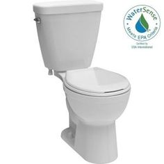 Delta Prelude 2-piece 1.28 GPF Single Flush Round Front Toilet in White C41901-WH at The Home Depot - Mobile