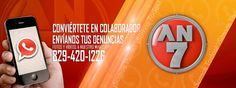 Arte para el sitio web oficial de Antena Latina canal7, Whatsapp del noticiero AN7.