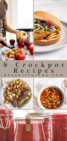 8 Crockpot recipes for two people. Small batch slow cooker recipes suited for a 4 quart or small slow cooker. #slowcooker #crockpot #recipecollection Crockpot Recipes For Two, Crockpot Dessert Recipes, Cookbook Recipes, Slow Cooker Recipes, Small Slow Cooker, Slow Cooker Bread, Slow Cooker Apples, Cacciatore Recipes, Chicken Spaghetti Recipes