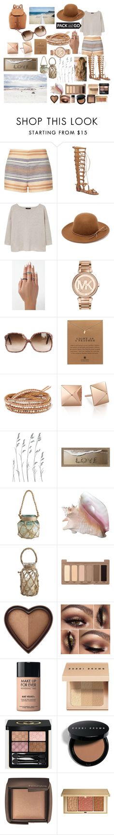 """""""pack&go mexico"""" by manderzlmao ❤ liked on Polyvore featuring Solid & Striped, Vince Camuto, MANGO, RHYTHM, Michael Kors, Dogeared, Chan Luu, Dot & Bo, Pier 1 Imports and Urban Decay"""