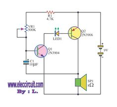 simple tone generator circuit diagram electronics projects info rh pinterest com Function Generator Schematic DC Generator Schematic