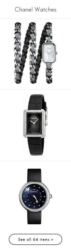 """""""Chanel Watches"""" by bleubeauty1 on Polyvore featuring jewelry, watches, chanel jewelry, digital wrist watch, white jewelry, quartz movement watches, chanel watches, rectangular watches, water resistant watches and rectangular dial watches"""