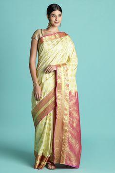 ebe843164293c Beige Color Silk Blend Zari Work Designer Saree With Blouse Piece online.