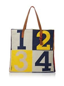 Loquita Color Block Square Tote