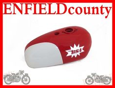 NEW 1964 BSA A65-25PH SPITFIRE HORNET WHITE RED PAINTED PETROL FUEL TANK A65HA