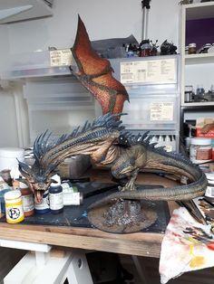 Dragon Miniatures, Fantasy Miniatures, Fantasy Creatures, Mythical Creatures, Toy Art, Dnd Dragons, Fantasy Model, Modelos 3d, Warhammer Fantasy
