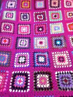 Pink pink, granny square , blanket pattern ,crochet