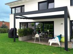 wasserdichte Markise modern für Kubus Haus