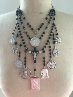 RESERVED FOR LA Vintage Religious Rosary Necklace - The Prayer