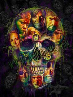 The Walking Dead skulls...