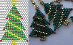 beading peyote stitch christmas treeearrings