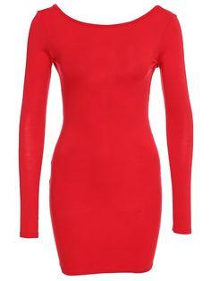 Low Back Jersey Bodycon Dress
