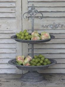 101 Ways to Decorate Tiered Plate Stands & How to make your own Tiered Serving Platter for ***CHEAP***   Health ...