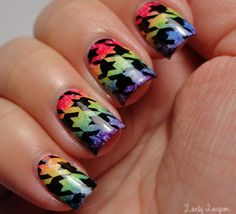 Lively Lacquer:  Rainbow Gradient-y Stamp-icure!