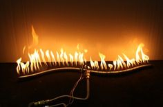 The burner can be used as a propane burner or a natural gas burner.