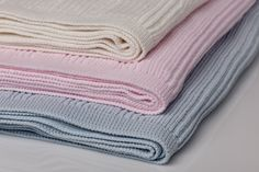 Our new range of Baby Horizon Throws in three wonderful colors.