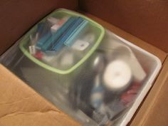 Leave utensils, jewelry, etc in their containers and cover with Glad Press N' Seal. Easy to pack, easier to unpack!