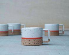Dot metro line mugs | Pawena Thimaporn | pawenastudio.com