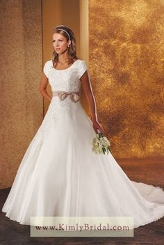 Discount Bonny Style 2813 Bliss Modest Conservative Wedding Dresses - $320.00