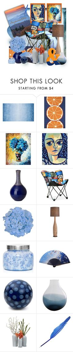 """""""Blue Ridge Inspiration"""" by elsiemarley22 ❤ liked on Polyvore featuring interior, interiors, interior design, home, home decor, interior decorating, Jaipur Living and Capri Blue"""