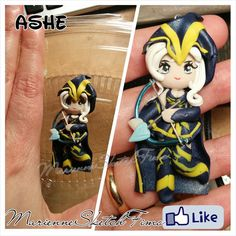 Pendant Ashe League of Legends handmade Chibi by MarienneCreations