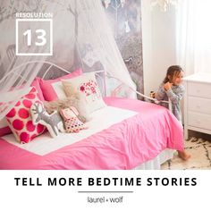 Once upon a time, your little princess wished for a perfect place for just one more story.  #31Resolutions #GetYourDesignOn