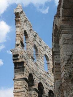 """Particolare del Anfiteatro Romano """"Arena di Verona"""", a Verona"""