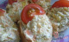 Falešná tresčí pomazánka No Salt Recipes, Cooking Recipes, Czech Recipes, Ethnic Recipes, Kids Meals, Appetizers, Eggs, Favorite Recipes, Snacks