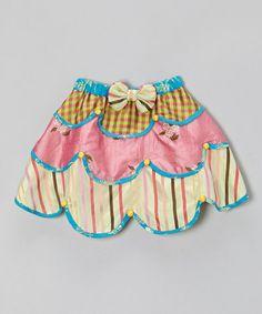 Inspiration - Look at this #zulilyfind! Pink & Blue Tiered Silk Skirt - Toddler & Girls #zulilyfinds