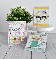 "Quick and Easy ""Hello Spring"" Cards (Echo Park Paper) Bucket List Quotes, Bucket Lists, Easter Wishes, Easter Card, Scrapbook Generation, Creative Arts And Crafts, Echo Park Paper, Hello Spring, Paper Cards"