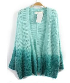 07cc343a94b2a8 The mohair cardigan featuring ombre effect. Cutout. Open front. No button.  Long