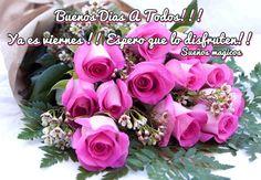 Buenos Días a Todos!!! Ya es Viernes!! Espero que lo disfruten!