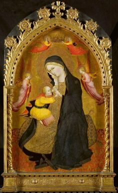 Agnolo Gaddi - Madonna con Bambino - 1410 - tempera e oro su tavola -  Rijksmuseum, Amsterdam