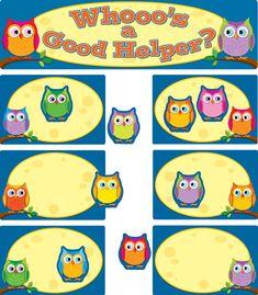 15 Ct Cute Cartoon Owl Classroom Accents Decor Teacher Homeschool Resource
