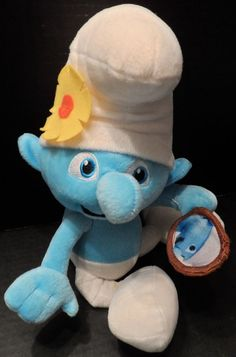 """$9.98/ Plush Smurf Doll with mirror by Kelly Toy Measures 14""""  ~Stuffed animal Novelty Character kids youth children www.stores.ebay.com/Shellys-Sweet-Finds"""