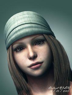 3D Korsan Kızı - 3ds Max, Looks Builder ve Photoshop ile yapıldı