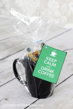 Gift Idea: Keep Calm and Drink Coffee with printable gift tags