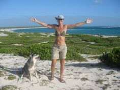 Liesbet and Darwin on the island of Barbuda, Eastern Caribbean - Spotlight on New Book Debut Author Liesbet Collaert #NewBook #DebutAuthor #2021Books Plunge #travel Wild Cheryl Strayed, Sailing Adventures, Self Publishing, Writing Activities, Darwin, Great View, Call Her, Writing A Book, Memoirs