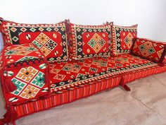 floor seating,floor cushions,arabic seating,arabic cushions,floor sofa,oriental seating,furniture,majlis,jalsa,floor couch,arabic couch - MA 39. TRADITIONAL MIDDLE EASTERN ORIENTAL FLOOR SEATING SOFA Perfect for furnishing and decorating homes, hookah bars, hotels, cafeterias, etc. This handmade authentic Middle Eastern floor sofa will certainly add an element and mystic to any room or space. Our versatile floor sofa sets make the perfect finishing touch, wherever you may wish to use them...