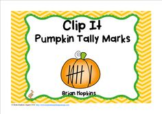 Tally Marks Pumpkin Clip It includes numbers from 0 to 20 and is perfect for math centers, stations, rotations, or early finishers. Students use a clothespin to clip their answer. Perfect for Fall (Autumn). You may also play the game of Scoot by using the recording sheet or put them around the room and play Write The Room. Other teachers put them in sleeves or laminate and students circle the answer. There are 21 total cards, one of which is 0 and includes teen numbers.