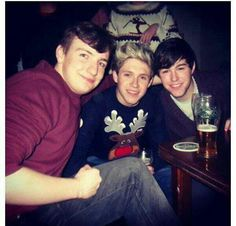 Niall at a Christmas party last night.